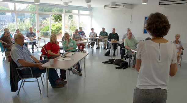 A session in The Arkell Centre